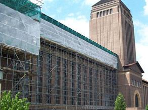 Roof repair at a prestigious university
