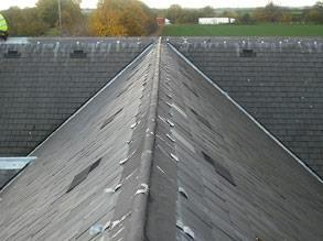 Leaking roof ridge