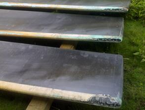 Eroded cooling tower fan blades