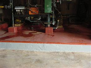 Belzona 4181 (AHR Magma-Quartz) used to resurface the area